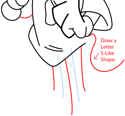Step 12 : Drawing Wakko Warner from Animaniacs in Easy Steps Lesson