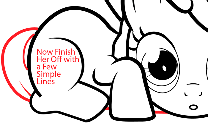 Step 13 : Drawing Apple Bloom from My Little Pony in Easy Steps Lesson