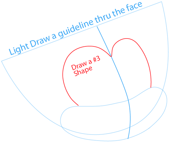 Step 3 : Drawing Dot Warner from Animaniacs in Easy Steps Lesson