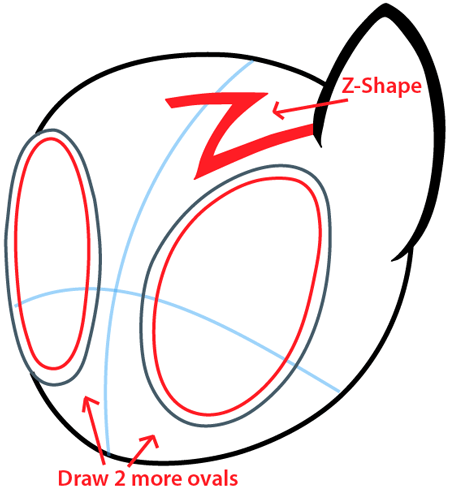 Step 3 : Drawing Vinyl Scratch from My Little Pony in Easy Steps Lesson