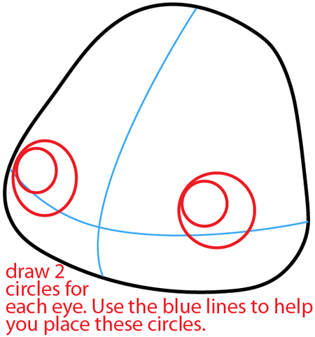 Step 4 : Drawing Poppet from Moshi Monsters in Easy Steps Lesson