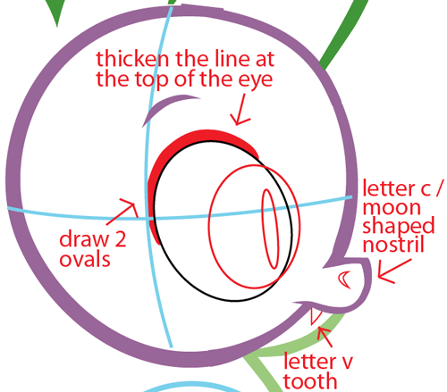 Step 4 : Drawing Spike from My Little Pony in Easy Steps Lesson