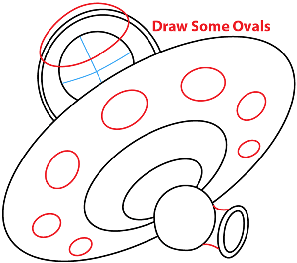 Step 4 : Drawing King Pig in Space Ship from Angry Birds Space in Easy Steps Lesson