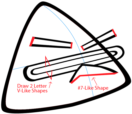Step 4 : Drawing Lazer Bird from Angry Birds Space in Easy Steps Lesson