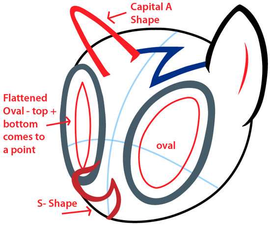 Step 4 : Drawing Vinyl Scratch from My Little Pony in Easy Steps Lesson