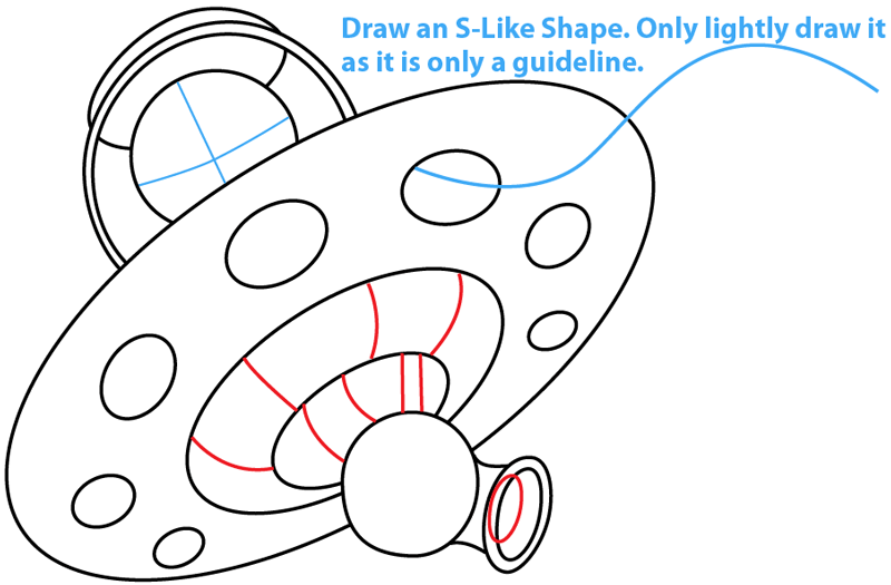 Step 5 : Drawing King Pig in Space Ship from Angry Birds Space in Easy Steps Lesson