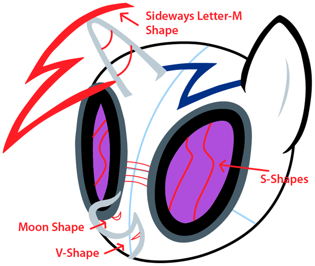 how to draw vinyl scratch from my little pony with easy step by step