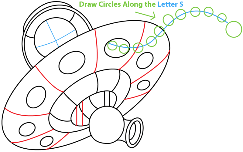 Step 6 : Drawing King Pig in Space Ship from Angry Birds Space in Easy Steps Lesson