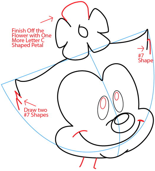 Step 6 : Drawing Dot Warner from Animaniacs in Easy Steps Lesson