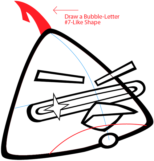 Step 6 : Drawing Lazer Bird from Angry Birds Space in Easy Steps Lesson