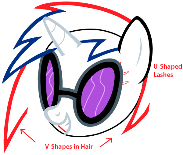 Step 6 : Drawing Vinyl Scratch from My Little Pony in Easy Steps Lesson