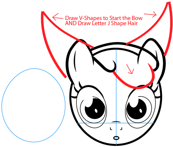 Step 7 : Drawing Apple Bloom from My Little Pony in Easy Steps Lesson
