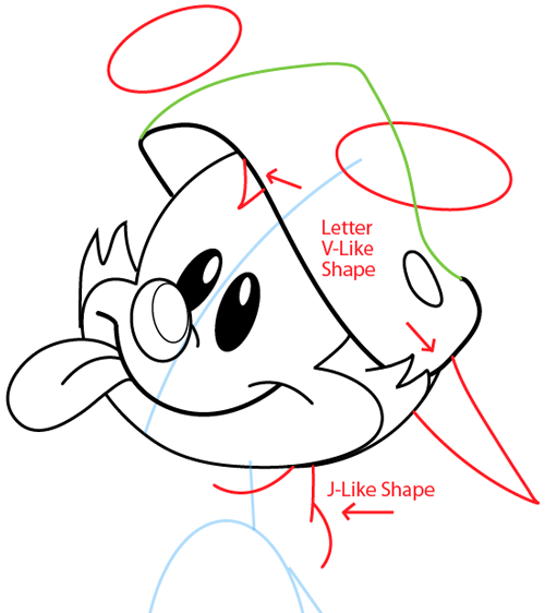 Step 7 : Drawing Wakko Warner from Animaniacs in Easy Steps Lesson