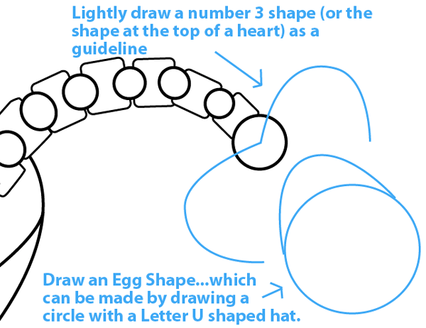 Step 8 : Drawing King Pig in Space Ship from Angry Birds Space in Easy Steps Lesson