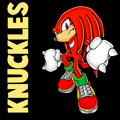 How to draw Knuckles the Echidna from Sonic the Hedgehog with easy step by step drawing tutorial