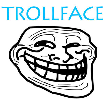 How to draw Trollface with easy step by step drawing tutorial