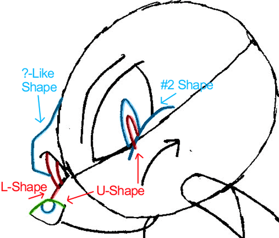 Step 5b : Drawing Knuckles the Echidna from Sonic the Hedgehog in Easy Steps Lesson