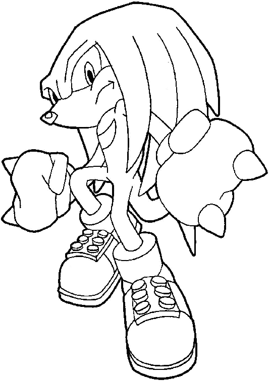 How to Draw Knuckles the Echidna