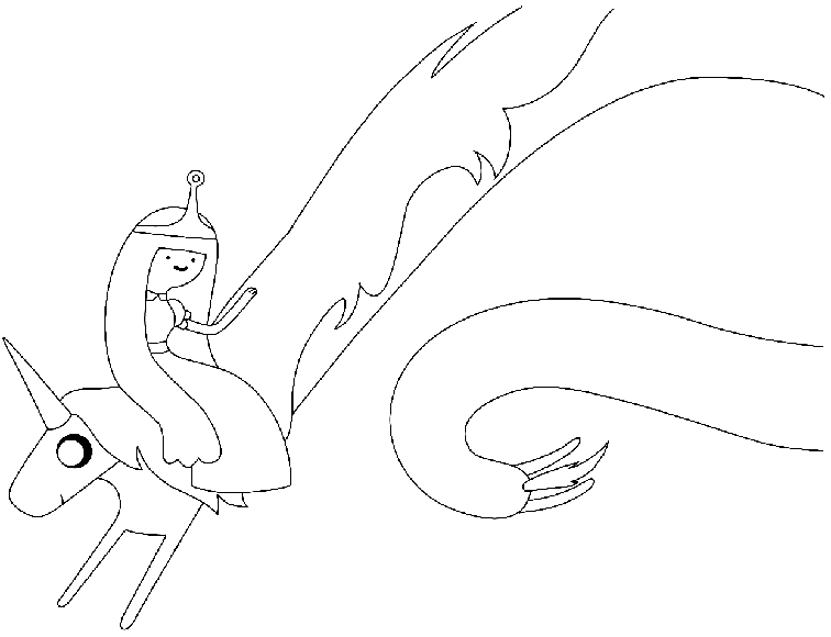 Adventure Time Coloring Pages Lady Rainicorn | www ...