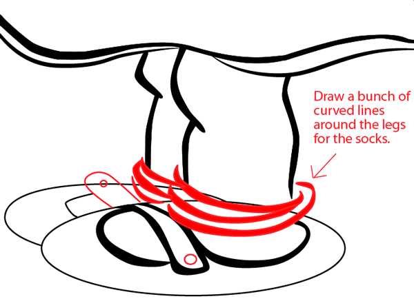 Step 17 : Drawing a Girl with a Flower for Mother's Day or Valentine's Day in Easy Steps Lesson