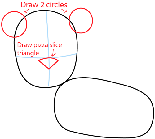 Step 3 : Drawing a Cartoon Lion in Easy Steps Lesson