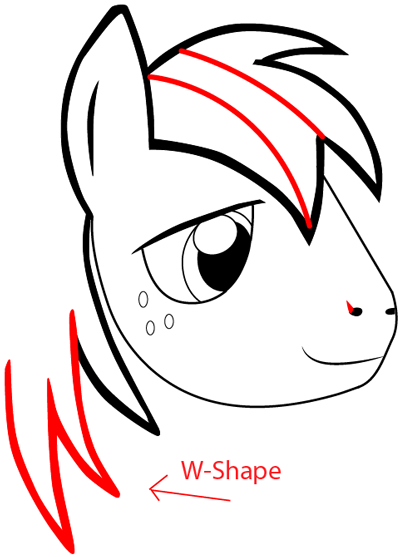 Step 5 : Drawing Big Mac from My Little Pony: Friendship is Magic in Easy Steps Lesson