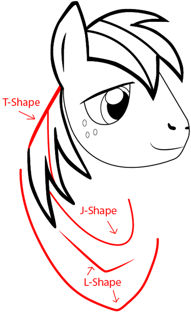 Step 6 : Drawing Big Mac from My Little Pony: Friendship is Magic in Easy Steps Lesson