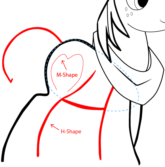 Step 9 : Drawing Big Mac from My Little Pony: Friendship is Magic in Easy Steps Lesson