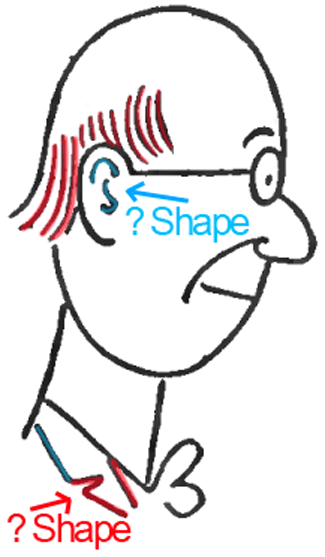Face A - Step 6 : Drawing Cartoon Face Profiles in Easy Steps Lesson