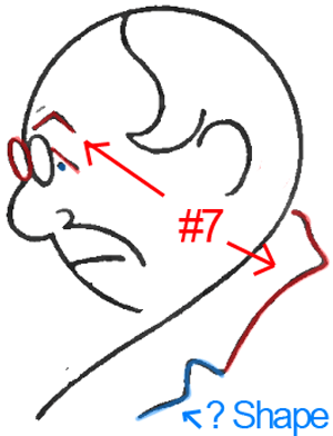 Face B - Step 5 : Drawing Cartoon Face Profiles in Easy Steps Lesson