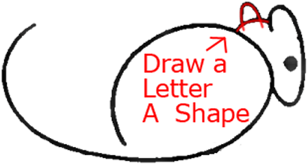 Mouse B - Step 3 : Drawing Cartoon Mice in Easy Steps Lesson