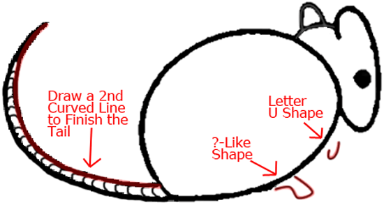 Mouse B - Step 4 : Drawing Cartoon Mice in Easy Steps Lesson