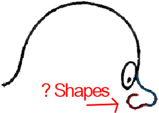 Face C - Step 2 : Drawing Cartoon Face Profiles in Easy Steps Lesson