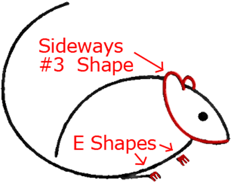 Mouse C - Step 3 : Drawing Cartoon Mice in Easy Steps Lesson