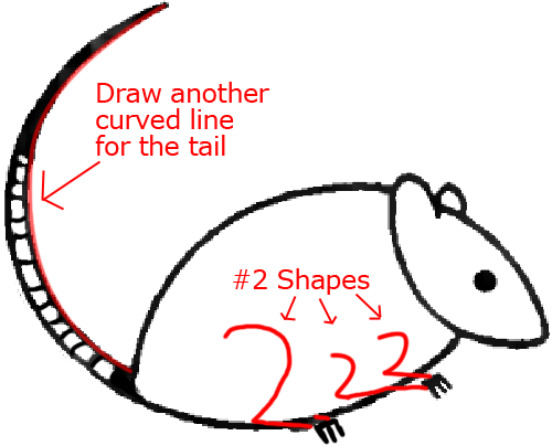 Mouse C - Step 4 : Drawing Cartoon Mice in Easy Steps Lesson