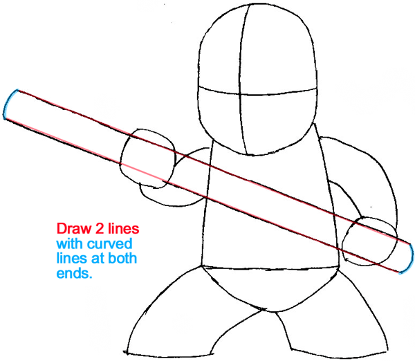 Step 5 : Drawing Cole from Lego Ninjago in Easy Steps Lesson