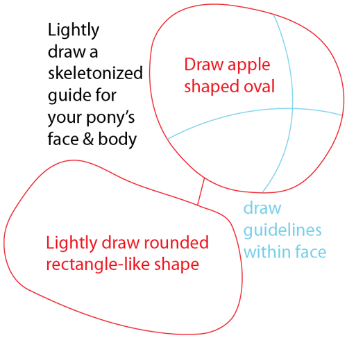 Step 1 : Drawing Granny Smith from My Little Pony: Friendship is Magic in Easy Steps Lesson