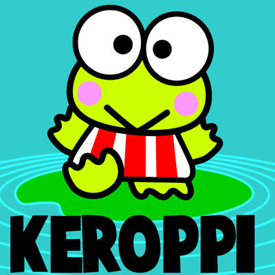 How to Drawing Keroppi from Hello Kitty with Easy Step by Step Drawing Lessons and Tutorials for Kids, Teens