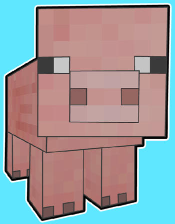 How to draw Pig From Minecraft with easy step by step drawing tutorial