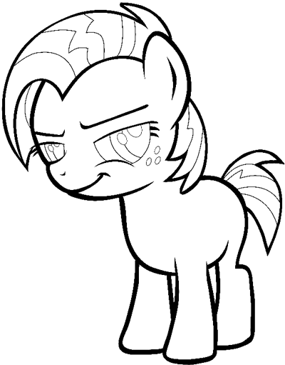 Step 11 : Drawing Babs Seed from My Little Pony: Friendship is Magic in Easy Steps Lesson