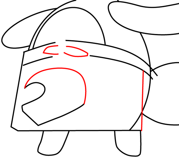 Step 10 : Drawing Tom Nook from Animal Crossing in Easy Steps Lesson