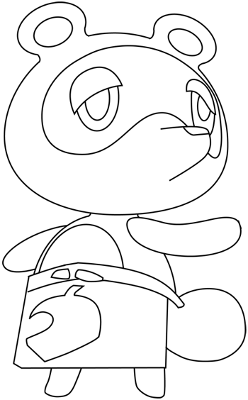 How To Draw Tom Nook From Animal Crossing With Easy Step