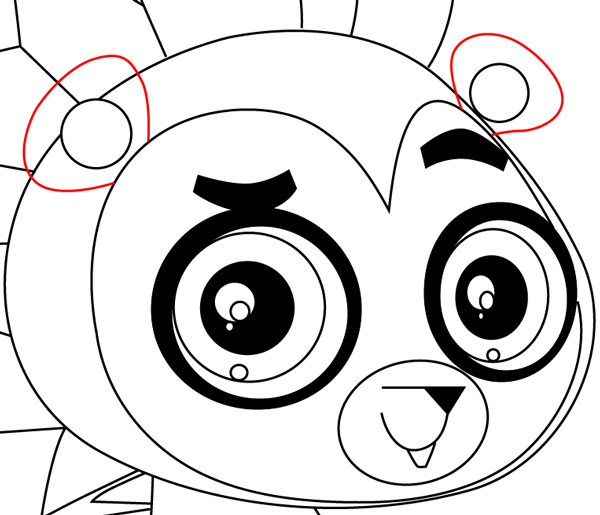 Step 13 : Drawing Russell Ferguson from Littlest Pet Shop in Easy Steps Lesson