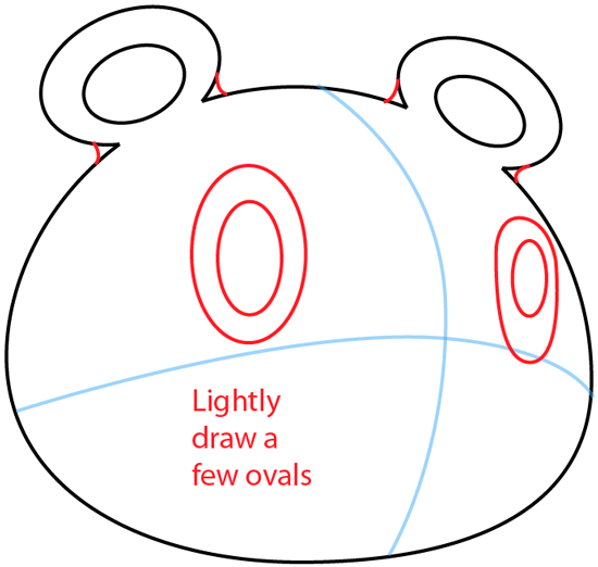 Step 3 : Drawing Tom Nook from Animal Crossing in Easy Steps Lesson