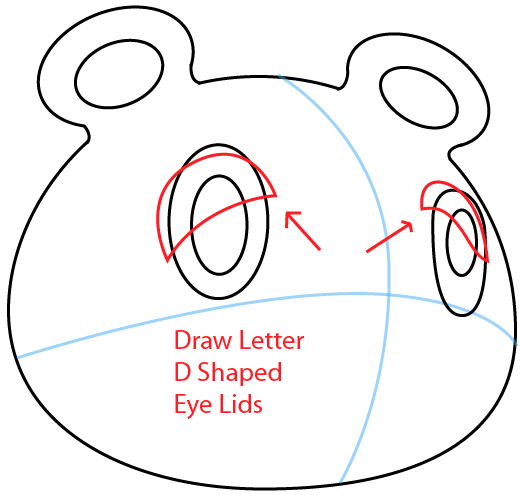 Step 4 : Drawing Tom Nook from Animal Crossing in Easy Steps Lesson