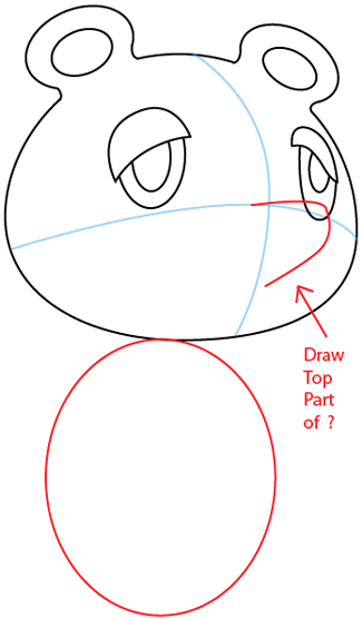 Step 5 : Drawing Tom Nook from Animal Crossing in Easy Steps Lesson