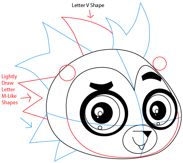 Step 6 : Drawing Russell Ferguson from Littlest Pet Shop in Easy Steps Lesson
