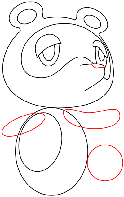 Step 7 : Drawing Tom Nook from Animal Crossing in Easy Steps Lesson