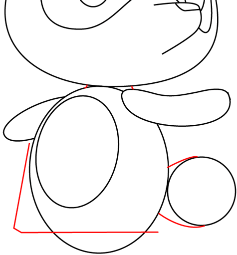 Step 8 : Drawing Tom Nook from Animal Crossing in Easy Steps Lesson