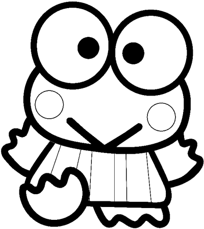 How To Draw Keroppi From Hello Kitty With Easy Step By